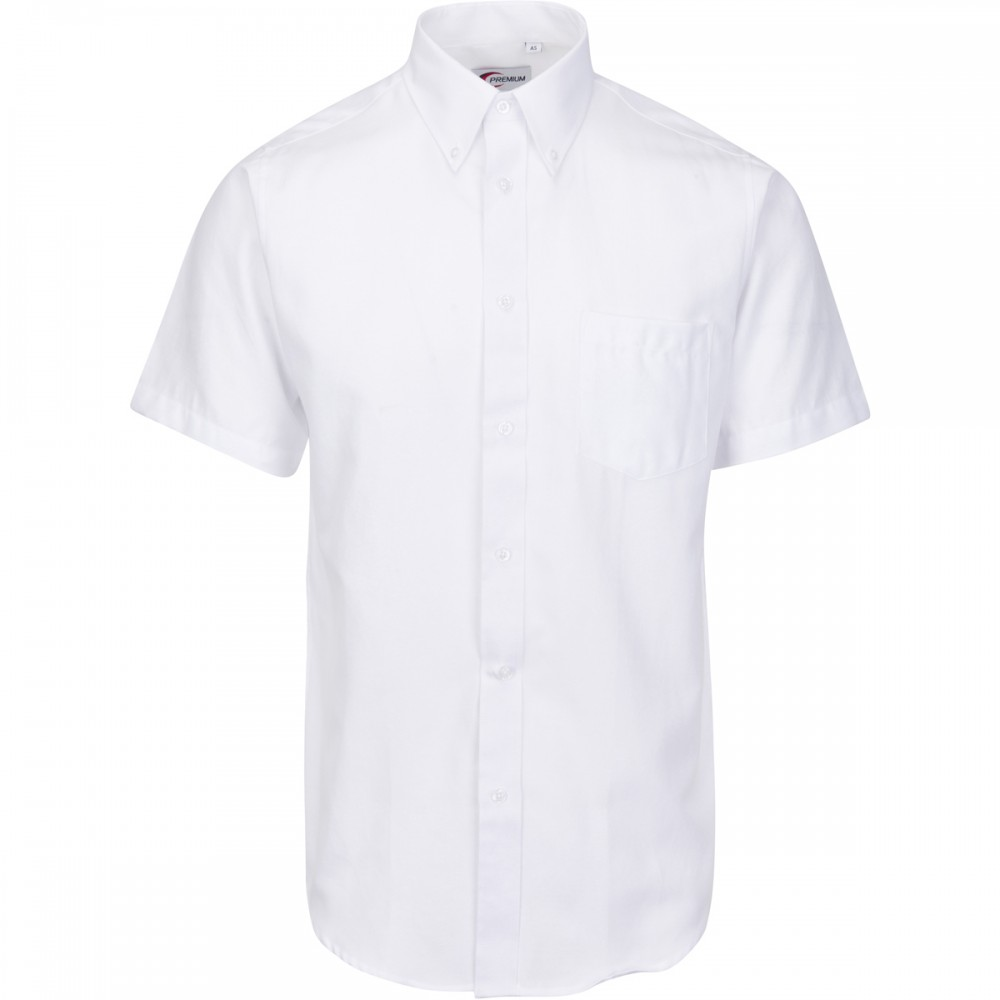 NFA-Short sleeve white Oxford shirt