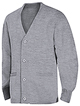 RG-Youth grey Cardigan sweater with embroidery