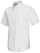 ESA-Adult Men's S/S white Oxford shirt with embroidery