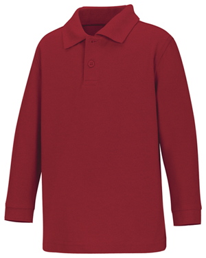 NFA-Long sleeve Red/White Pique polo shirt(Toddler/Youth)