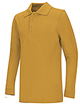 NF-Long sleeve Gold/Black pique polo shirt(Toddler/Youth)