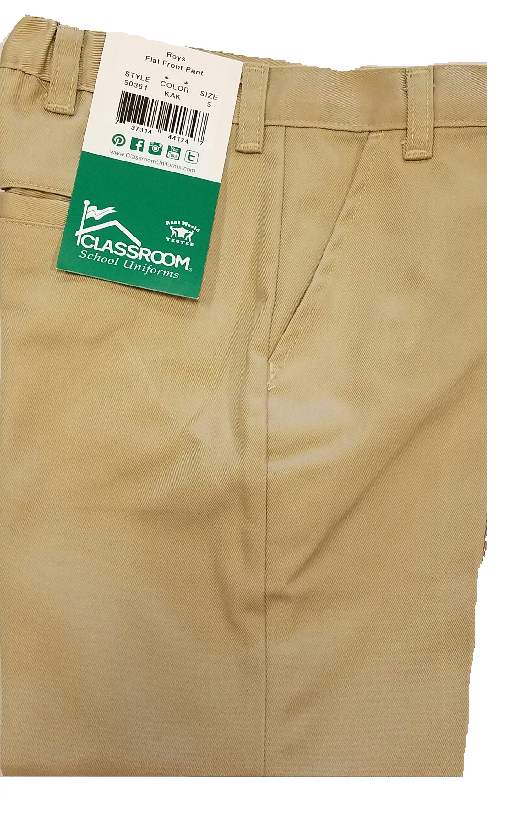 Style 50361A Toddler (4-7) Khaki Long Pant