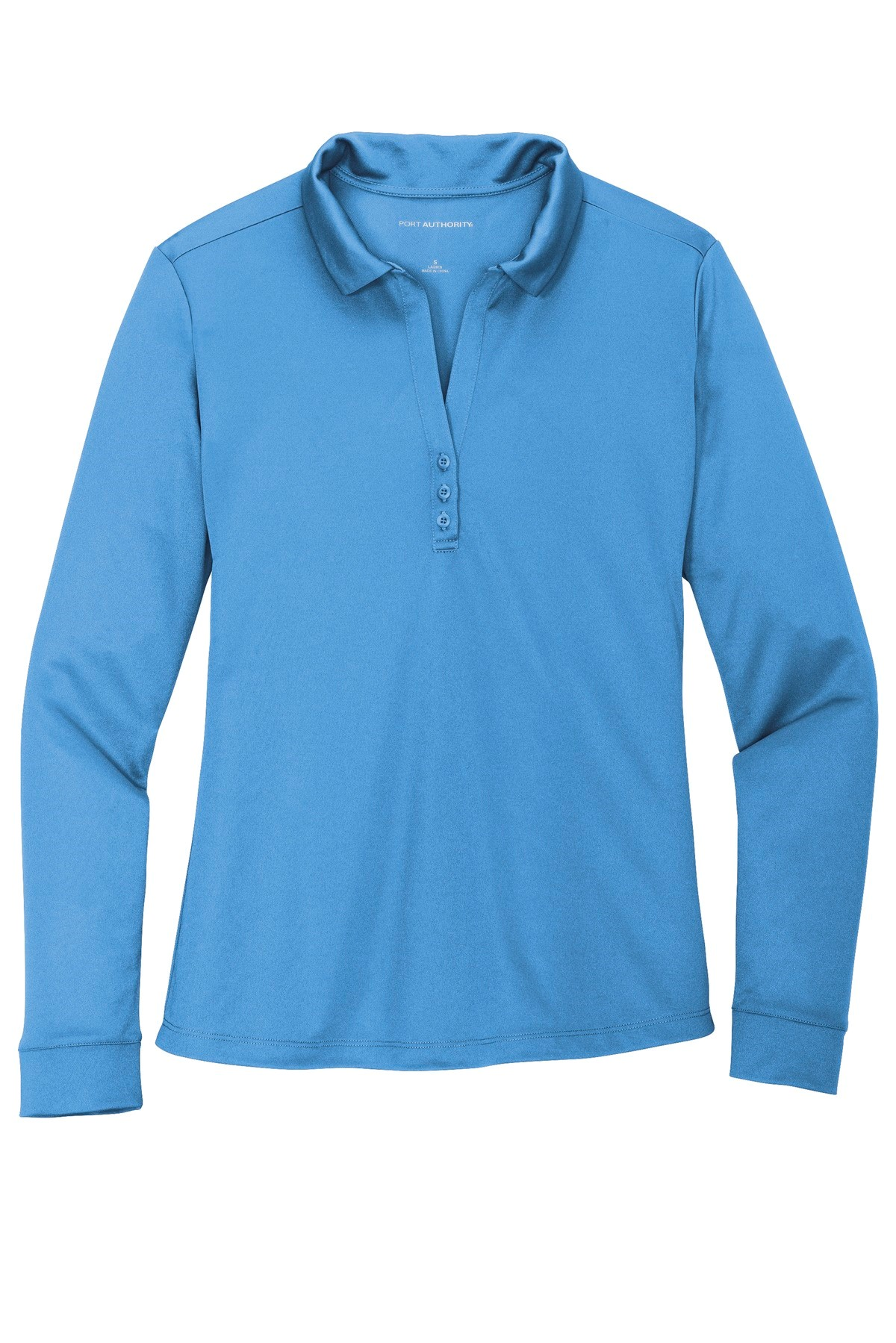 Ladies long sleeve moisture wicking polo L540LS