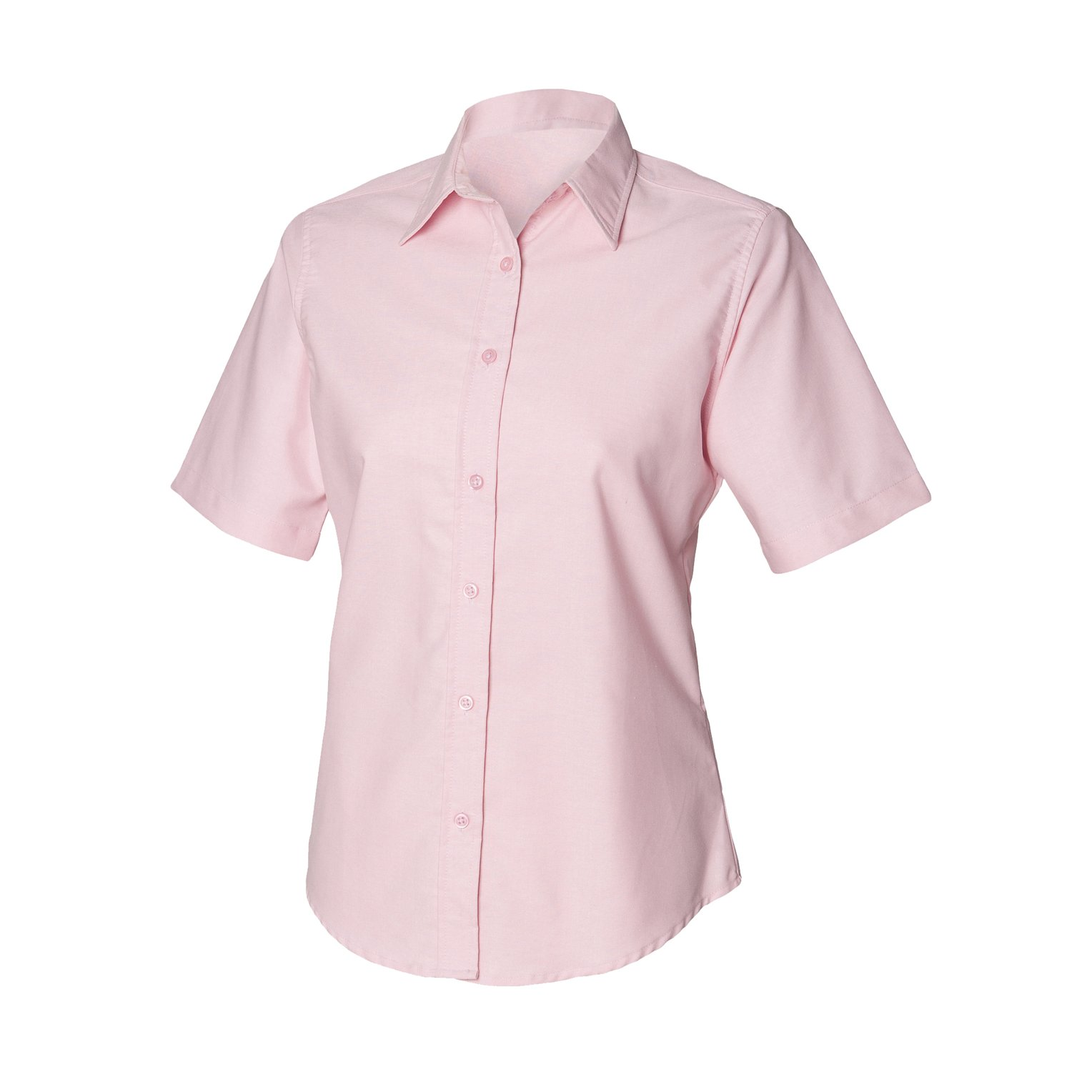 Ladies Short Sleeve Oxford shirt(Open collar) - Code 66444