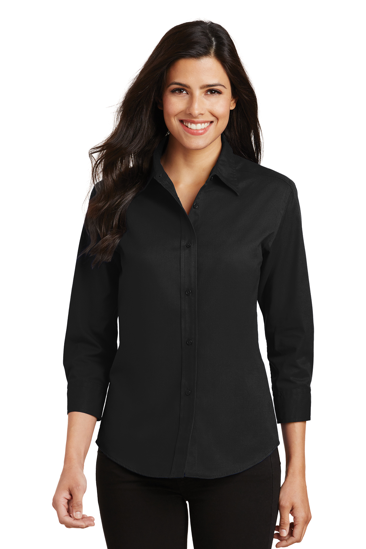 Ladies 3/4-Sleeve Easy Care Shirt Code L612